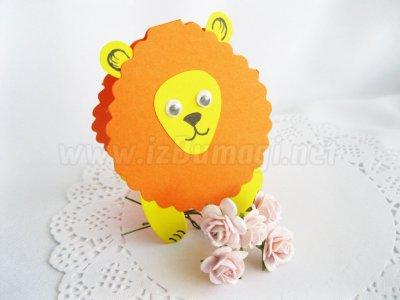 Поделка из бумаги лев своими руками для детей 10 лет 1